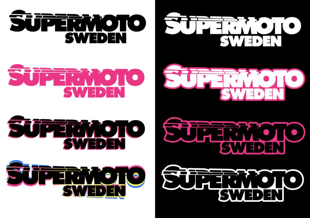SupermotoSweden.- logotyp variationer